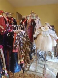 Girls' party dresses and some boy's wear