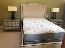 Please Note: Mirrored Nightstands are NFS Mattress/Boxspring are NFS