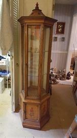 Beautiful curio cabinet.