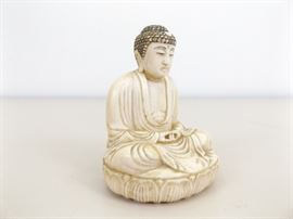 Antique Signed Ivory/Bone Buddha Netsuke