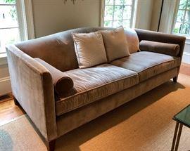 Mitchell Gold Mohair Velvet Sofa