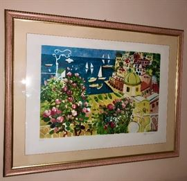 Athos Faccincani Signed and Numbered serigraph. Italian landscape artist