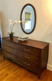 Six-drawer dresser with mirror