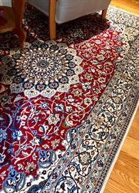 Gorgeous Persian Nain, 8.5 x 5.16 - wool and silk pile