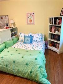 PB Teens platform bed set