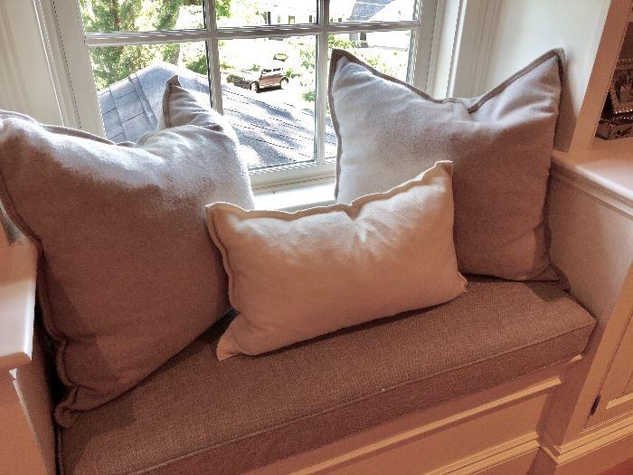 Plush down pillows