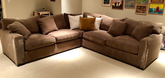 Crate and Barrel Sectional - virtually brand new!