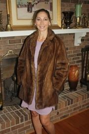Amazing mink coat. There is another longer mink and a mink shawl in the  sale.