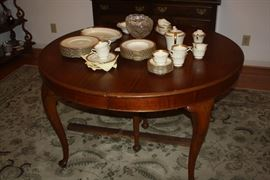 Dining room table from the estate of Miss Ida Elliott, long time resident of McDonough.