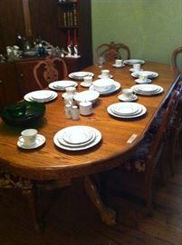 Dining table & chairs, Noritaki China