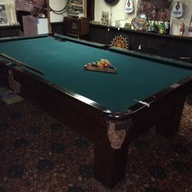 Antique 8 Foot Billiard Table
