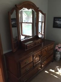 Dresser with mirror by Sumter cabinet co