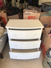 Pier One Wicker 3 Drawer Dresser