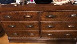 Tiger oak Art Deco chest