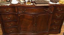 Large mahogany dresser.