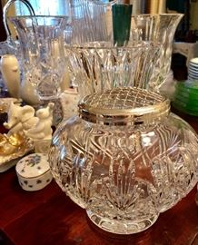 Waterford crystal rose bowl.