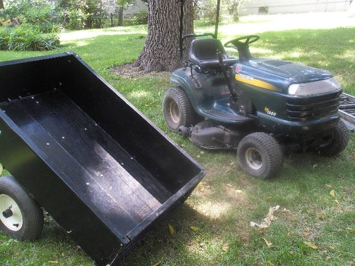 Craftsman 18 hp lawn tractor. Trailer and other attachments available