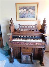 1910 Crown pump organ. Fully restored in 1992.