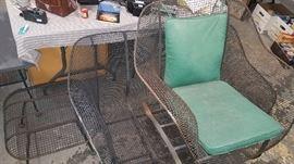 Mid Century 3 pcs. patio set-loveseat, chair and ottoman