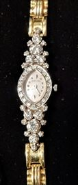 14k Gold and Diamond Watch