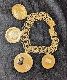 14k Charm Bracelet with 14k Charms