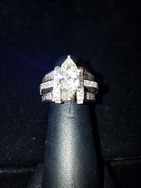 4+ Carat Diamond Ring Set in 18k White Gold