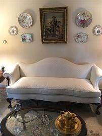 Excellent Custom Chippendale Sofa. Pristine