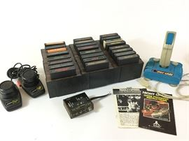 Atari Games and Controllers   http://www.ctonlineauctions.com/detail.asp?id=738877