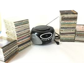 Large Lot of CDs and GPX CD Player/Radio (#1)    http://www.ctonlineauctions.com/detail.asp?id=738879