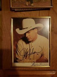 Signed John Michael Montgomery Memorabilia