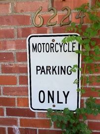 Motorcycle Parking Only Sign
