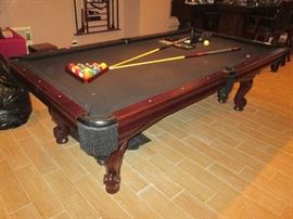 Pool Table and Ping Pong conversion attachment. Also table cover & cue sticks and Rack