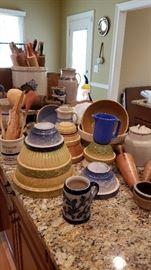 Antiuqe and vintage stoneware