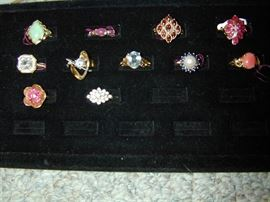 Gold Rings - with Jade, ruby, garnet, pearl, sapphire, coral & More!