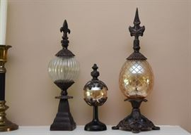 Home Decor / Glass Orbs with Finials