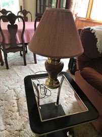 Side table (#1) & nice lamp