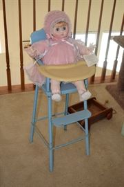 Heirloom Doll & Highchair