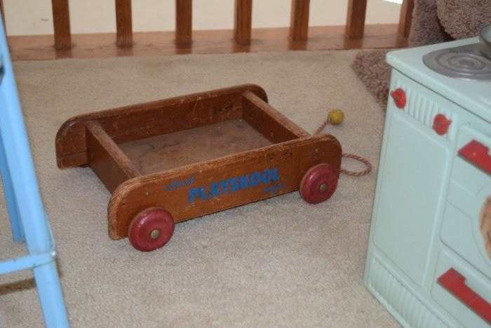 Vintage Playschool Wagon