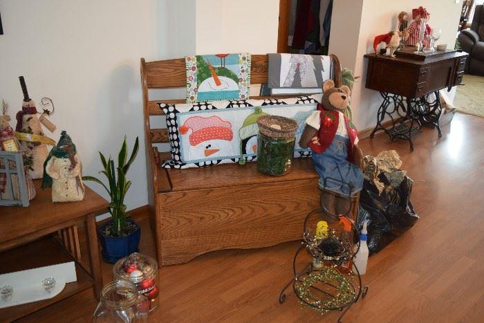 Bench, seasonal, and home decor