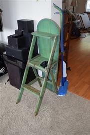 Step stool ironing board