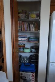 Cook books and kitchen items