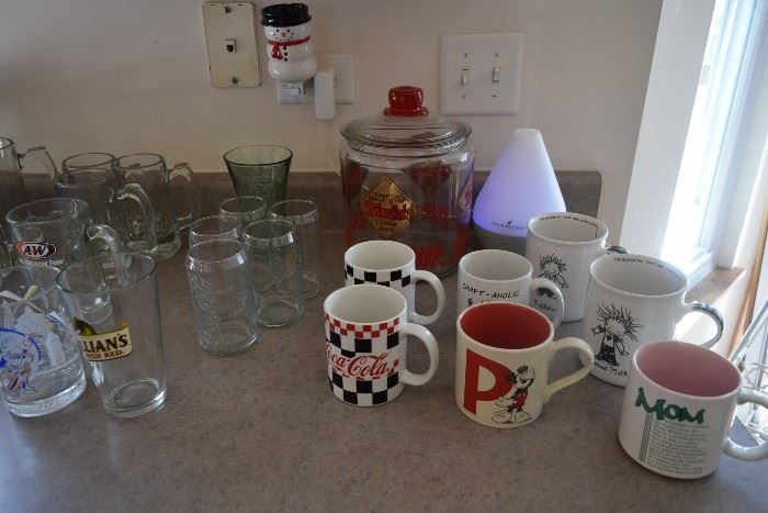 Mugs and glasses