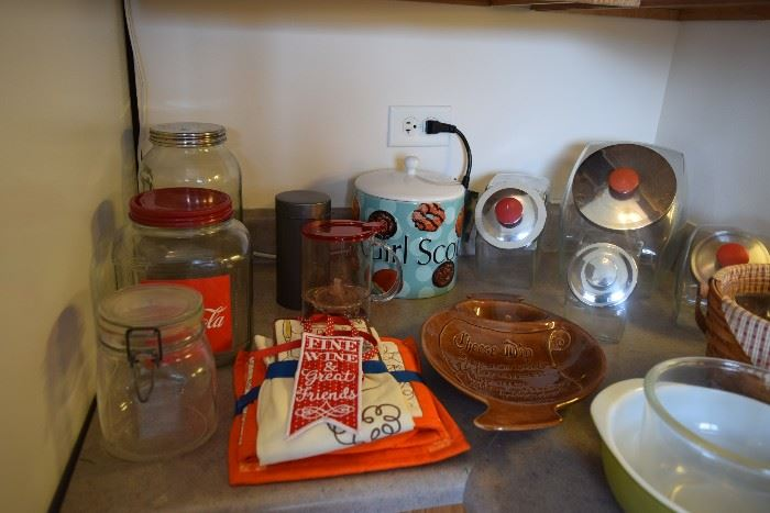 Canisters, jars, serving bowls