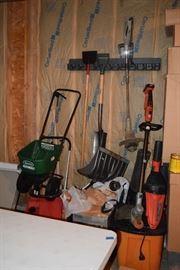 Yard tools, shovels