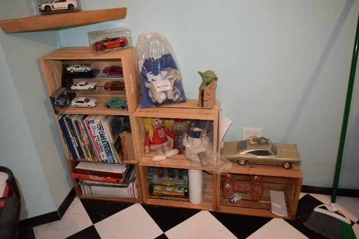 Shelf Unit and collectibles