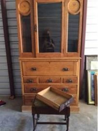Antique Oak Secretary and