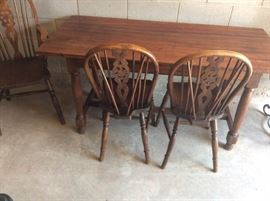 Antique Table with 3 Chairs
