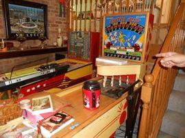Shuffle Alley pin ball machine-works!  ****Taking bids Fri/Sat****Highest bid called Sat evening for pick up Sunday.