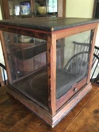 Antique store counter display pie safe