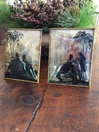 antique glass Victorian pictures